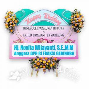 Bunga Papan Pernikahan p02